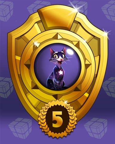 Fast Like Felis Lap 5 Badge - Bejeweled Stars
