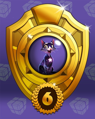Fast Like Felis Lap 6 Badge - Bejeweled Stars