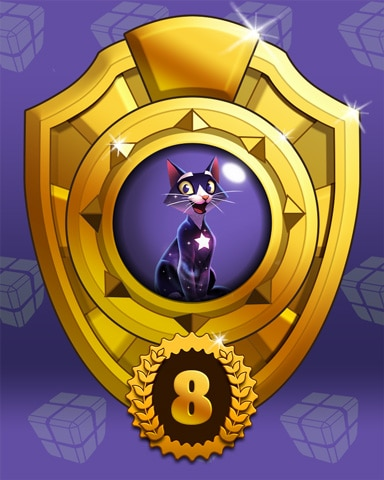 Fast Like Felis Lap 8 Badge - Bejeweled Stars