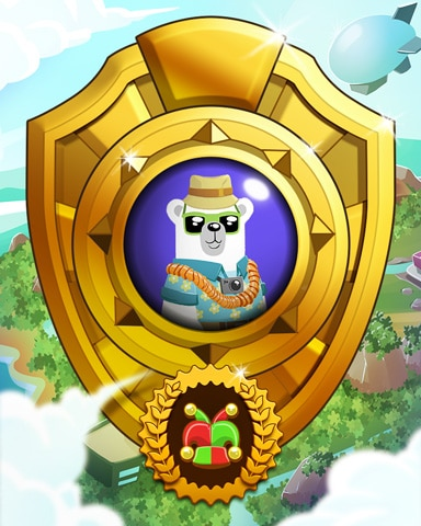 Pogo Bear Miles Victory Badge