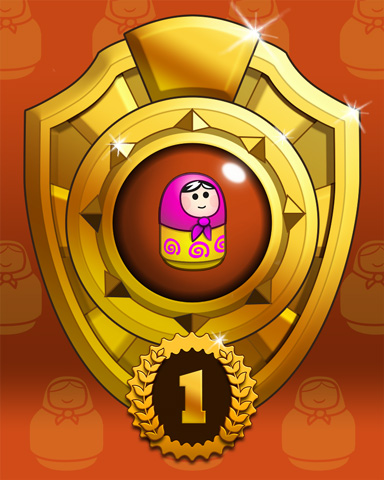 Doll Dash Lap 1 Badge - Trizzle