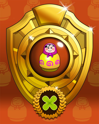 Pogo Doll Dash Victory Badge