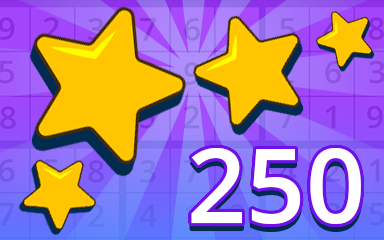 Stars 250 Badge - Pogo Daily Sudoku