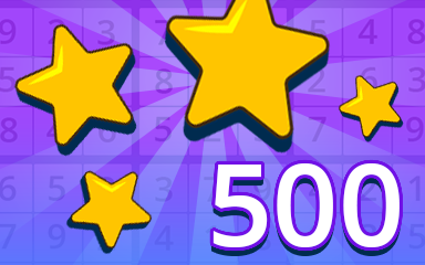 Stars 500 Badge - Pogo Daily Sudoku