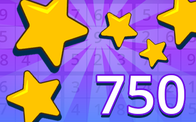 Stars 750 Badge - Pogo Daily Sudoku