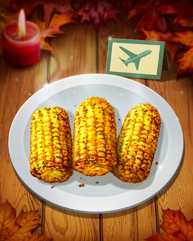 Thanksgiving Corn Badge - First Class Solitaire HD