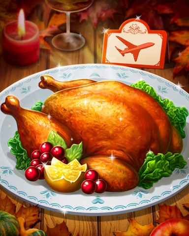 Thanksgiving Turkey Badge - First Class Solitaire HD