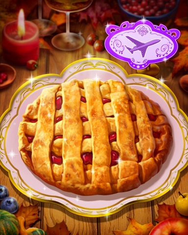 Thanksgiving Apple Pie Badge - First Class Solitaire HD