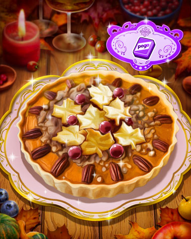 Thanksgiving Pumpkin Pie Badge - Mahjong Safari HD