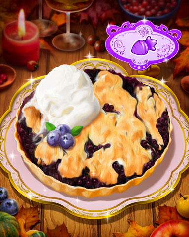 Thanksgiving Berry Cobbler Badge - Word Whomp HD