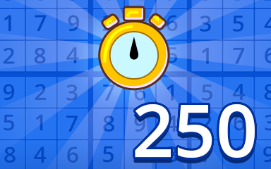 Fast Beginner 250 Badge - Pogo Daily Sudoku