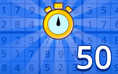 Fast Beginner 50 Badge - Pogo Daily Sudoku