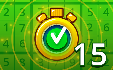 Fast Easy 15 Badge - Pogo Daily Sudoku