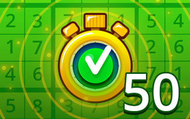 Fast Easy 50 Badge - Pogo Daily Sudoku