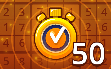 Fast Medium 50 Badge - Pogo Daily Sudoku