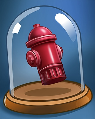 Red Hydrant Badge - Stack'em HD