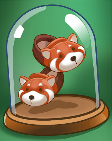 Red Panda Slippers Badge - Pogo™ Sudoku