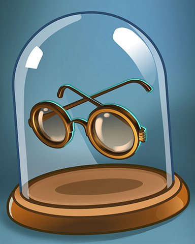 Lex's Glasses Badge - Bookworm HD