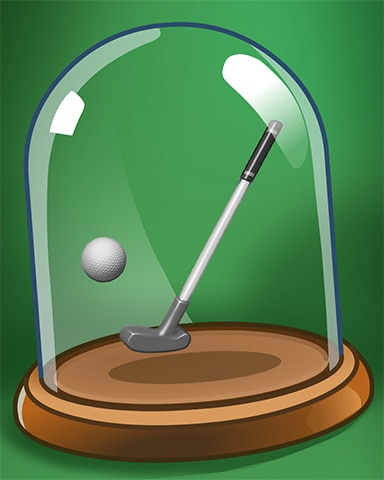 Putt 'er There Badge - Pogo Mini Golf
