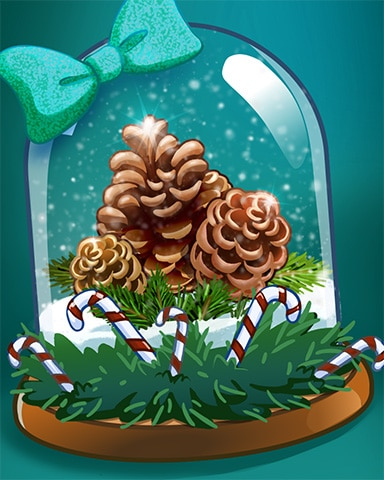 Candy Pinecone Badge - Crossword Cove HD
