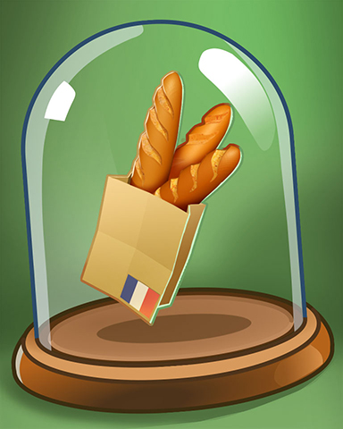 French Bread Badge - From France With Love