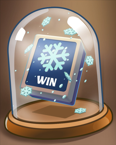 Glass Of Winter Badge - Mahjong Garden HD