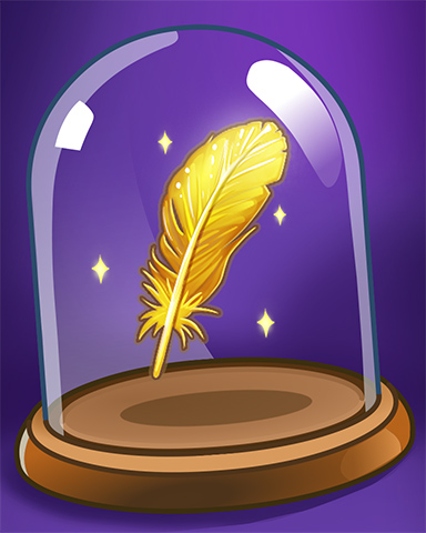 Golden Feather Badge - Mahjong Sanctuary