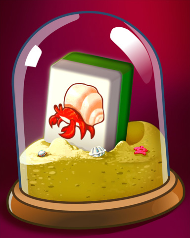 Sandy Crab Badge - Mahjong Safari HD
