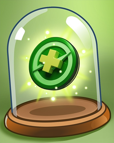 Trusty Green Peg Badge - Peggle Blast HD