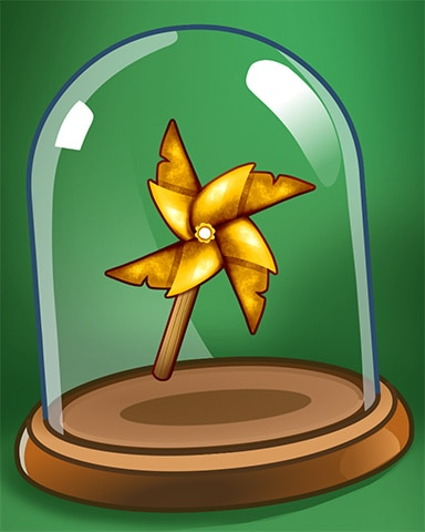Windy Pinwheel Badge - Pogo Mini Golf