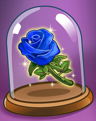 Blue Rose Case Badge - StoryQuest
