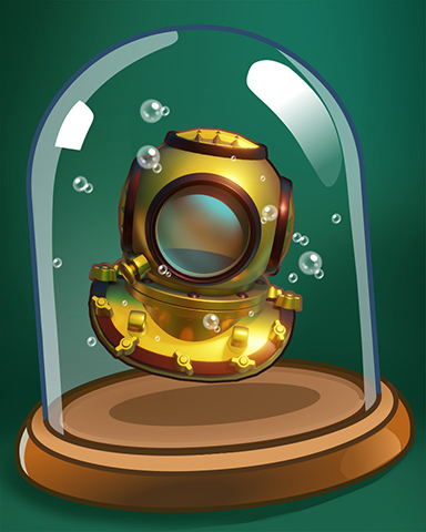 Diving Helmet Badge - Vaults Of Atlantis Slots