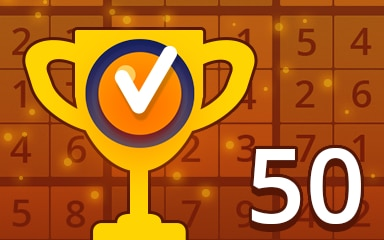 Weekly Special 50 Medium Badge - Pogo Daily Sudoku