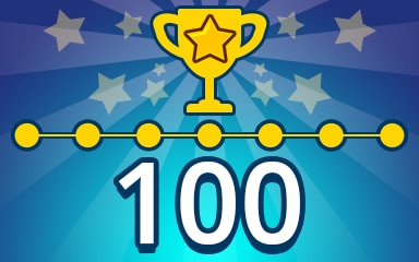 Weekly Special Puzzle 100 Badge - Pogo Daily Sudoku